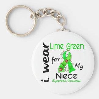 Verde lima del desgaste del linfoma I para mi sobr Llaveros Personalizados