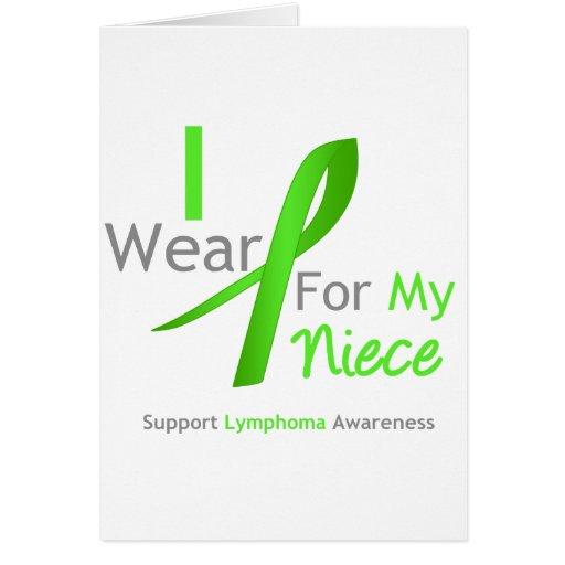 Verde lima del desgaste del linfoma I para mi sobr Felicitaciones