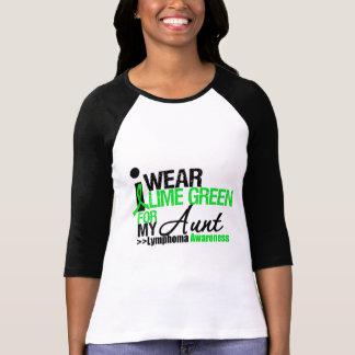 Verde lima del desgaste del linfoma I para mi tía Camiseta