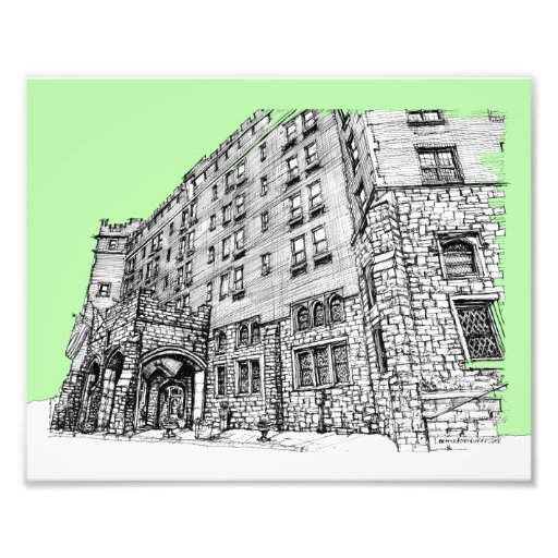 Verde lima del hotel de Thayer Impresion Fotografica