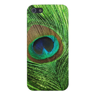 Verde lima del pavo real iPhone 5 protectores