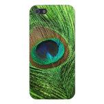 Verde lima del pavo real iPhone 5 carcasas