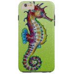 Verde lima del Seahorse Funda Para iPhone 6 Plus Tough