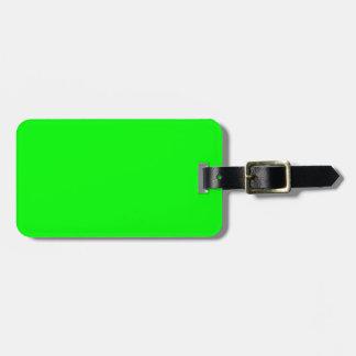 Verde lima elegante. Color de la moda que tiende e Etiqueta De Equipaje