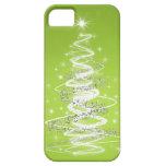 Verde lima elegante del árbol de navidad iPhone 5 Case-Mate cobertura