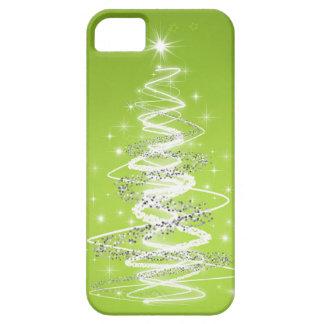 Verde lima elegante del árbol de navidad iPhone 5 fundas
