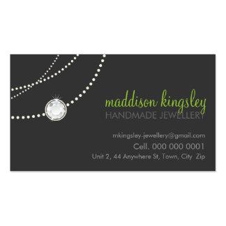 verde lima elegante elegante del gris del tarjetas de visita