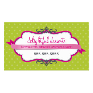 Verde lima elegante linda del rosa del fuschia de  tarjetas de visita