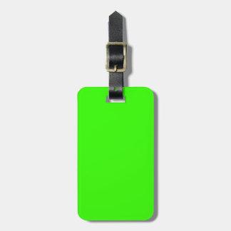 Verde lima etiquetas maletas