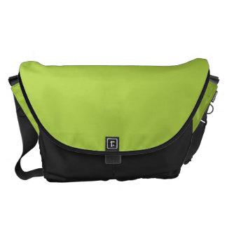 Verde lima grande bolsa de mensajería