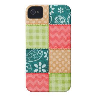 Verde lima linda, turquesa, y rojo del escarlata iPhone 4 Case-Mate carcasa