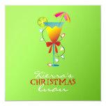 verde lima Luau del navidad del paraíso Comunicados Personalizados