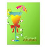 """verde lima Luau del navidad del paraíso Invitación 4.25"""" X 5.5"""""""