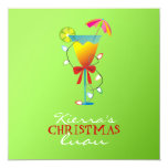 """verde lima Luau del navidad del paraíso Invitación 5.25"""" X 5.25"""""""