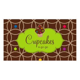 Verde lima moderna del chocolate de los puntos de tarjetas de visita