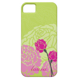 verde lima moderna personalizada del rosa del dise iPhone 5 carcasas