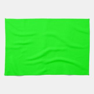 Verde lima toallas de mano