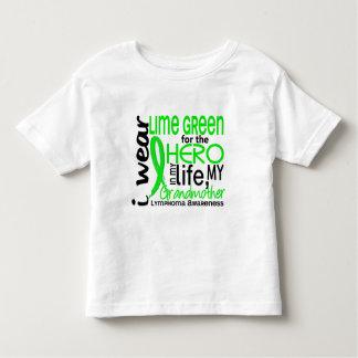 Verde lima para el linfoma de la abuela del héroe playera de bebé