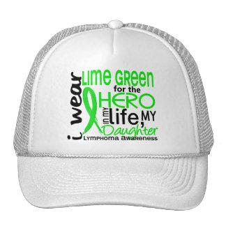 Verde lima para el linfoma de la hija del héroe 2 gorros