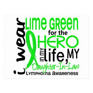 Verde lima para el linfoma de la nuera del héroe 2 tarjetas postales