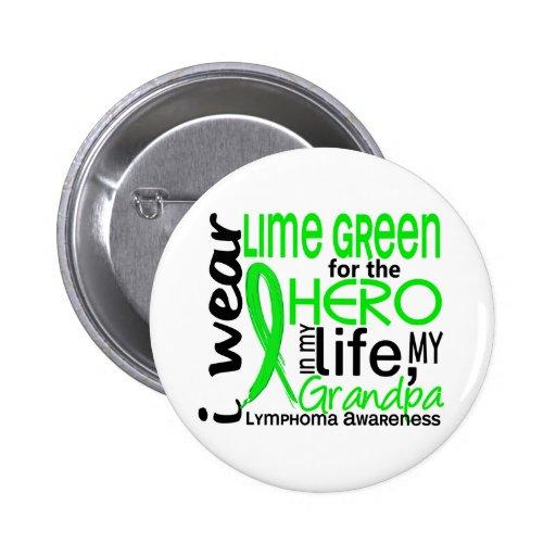 Verde lima para el linfoma del abuelo del héroe 2 pin redondo 5 cm