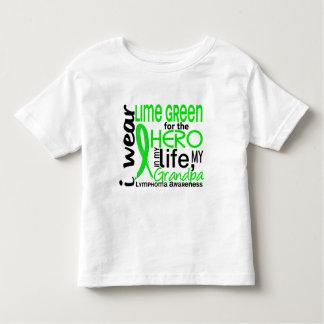 Verde lima para el linfoma del abuelo del héroe 2 playera de bebé