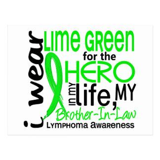 Verde lima para el linfoma del cuñado del héroe 2 postales
