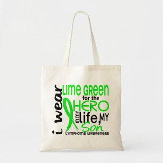 Verde lima para el linfoma del hijo del héroe 2 bolsas de mano