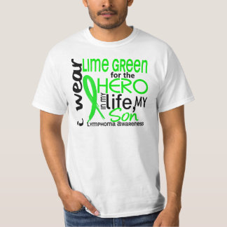 Verde lima para el linfoma del hijo del héroe 2 playera