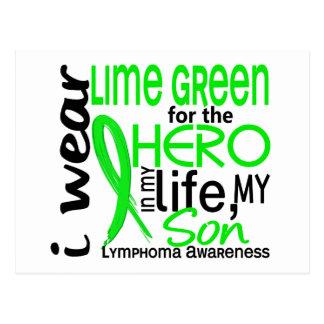 Verde lima para el linfoma del hijo del héroe 2 postal