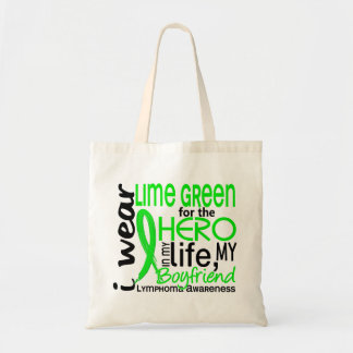 Verde lima para el linfoma del novio del héroe 2 bolsa tela barata
