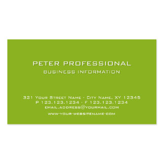 Verde lima profesional moderna de la tarjeta de vi