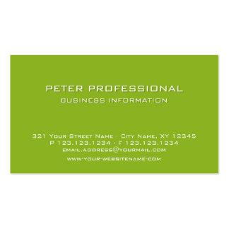 Verde lima profesional moderna de la tarjeta de vi plantilla de tarjeta de visita