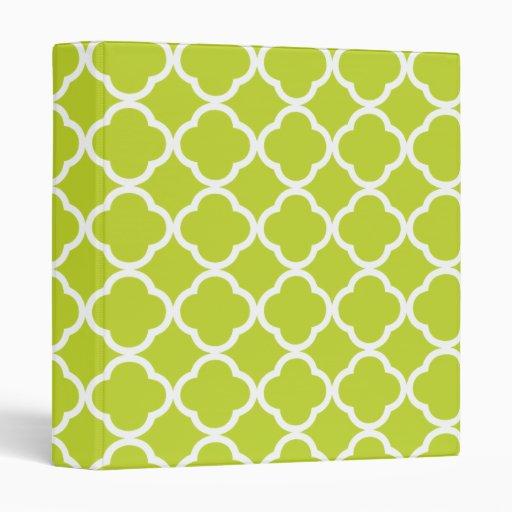 Verde lima Quatrefoil