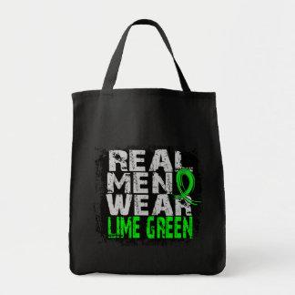 Verde lima real del desgaste de hombres del linfom bolsa tela para la compra