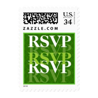 Verde lima RSVP W08 que se casa moderno Sellos