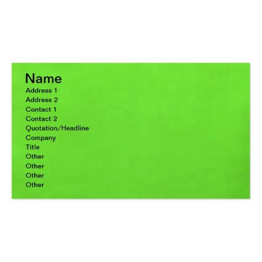 verde lima subacuática plantillas de tarjetas de visita