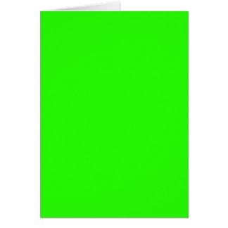 Verde lima tarjetón
