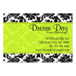 Verde lima y damasco tarjeta personal