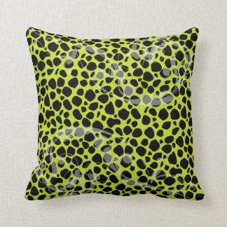 Verde lima y modelo azul eléctrico del leopardo almohadas