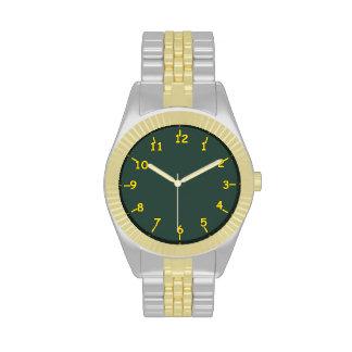 Verde lima y oro de la lechería relojes