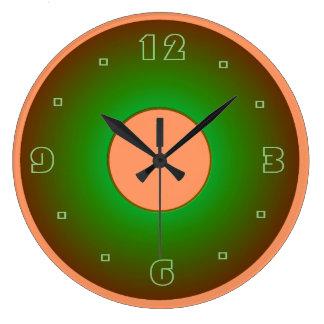 Verde lima y relojes de pared llanos de Apricot>