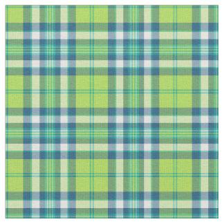 Verde lima y tela escocesa azul de la moda telas