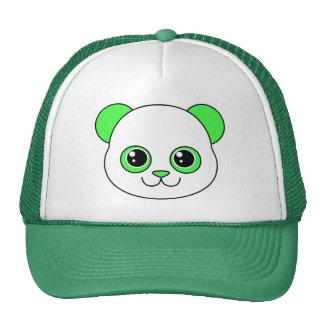 Verde lindo Apple de la panda Gorro