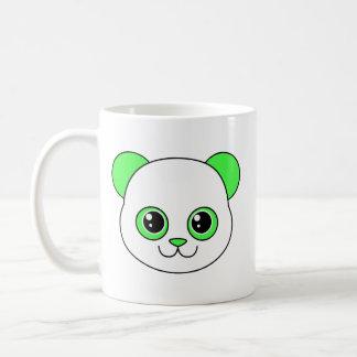 Verde lindo Apple de la panda Taza Básica Blanca