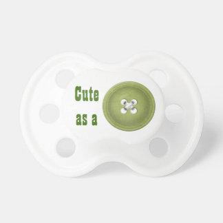 """Verde """"lindo como botón """" chupete"""