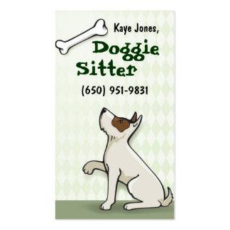 Verde lindo de las tarjetas de visita del perrito