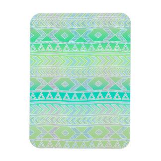 Verde lindo y modelo azteca de Stylic del trullo Iman De Vinilo