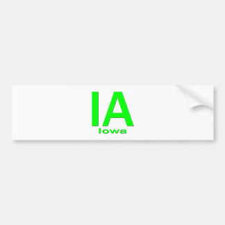 Verde llano de IA Iowa Pegatina Para Auto