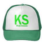 Verde llano de KS Kansas Gorros Bordados